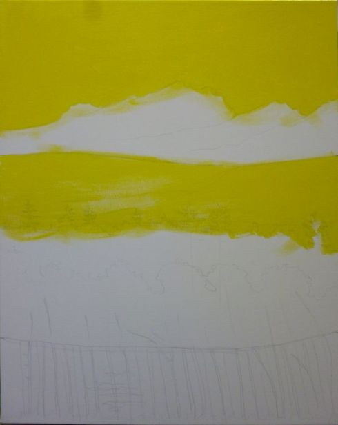 painting yellow under layer