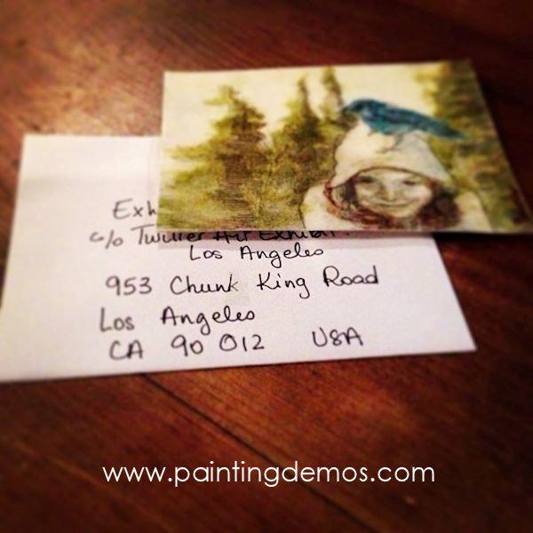 Postcard sized Art for the Twitter Art Exhibit