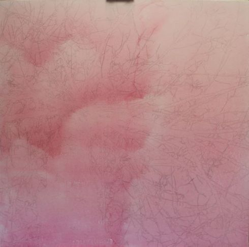 first layer of diluted red acrylic ink