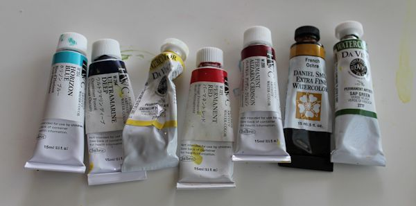 watercolor painting palette
