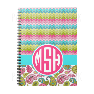 Chevron & Paisley Circle Monogram