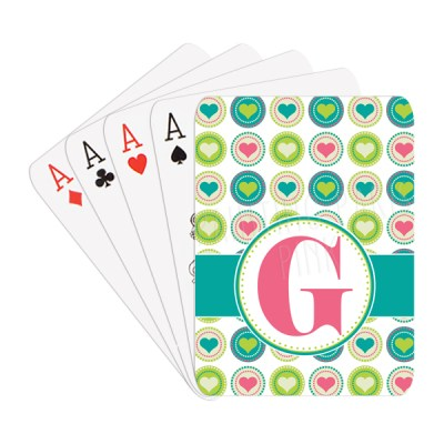 Fun Hearts & Initial Playing Cards
