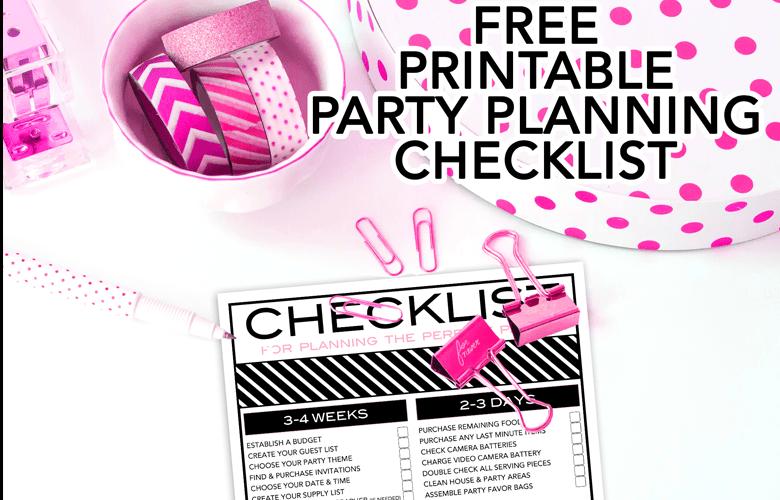 Birthday Party Checklist Free Printable