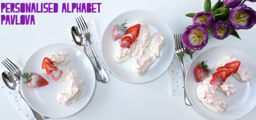 Personalised alphabet pavlova