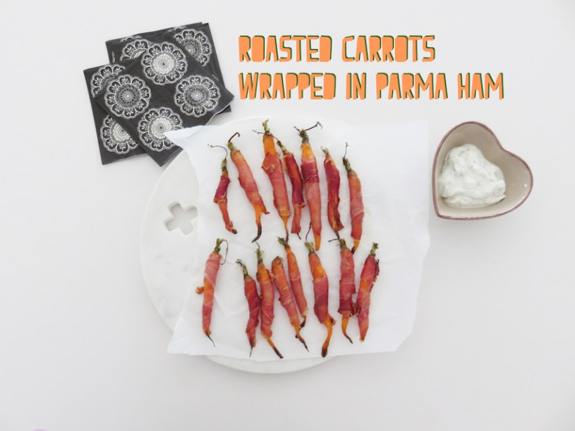 roasted carrots and parma ham