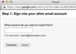 Masukan alamat email yang akan di import ke Gmail email dan kontak ke gmail Cara memasukkan email dan kontak ke gmail Masukan alamat email yang akan di import ke Gmail