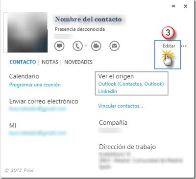 Contactos Outlook 2013 3
