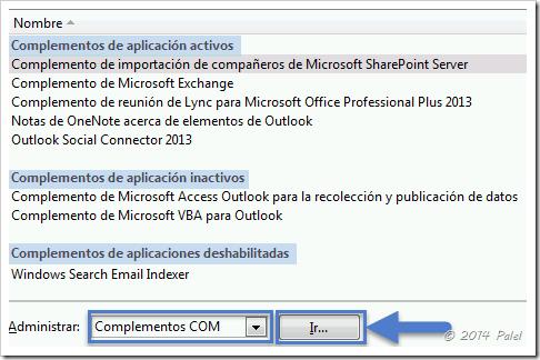 Complementos Outlook 2013 - Palel.es