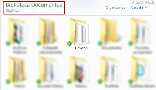 Ruta de la carpeta DESKTOP cambiada a Mis Documentos  SkyDrive