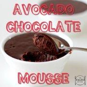 Avocado Chocolate Mousse paleo recipe dessert sweet treat-min