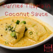 Curried Tilapia in Coconut Sauce fish paleo dinner recipe lunch-min