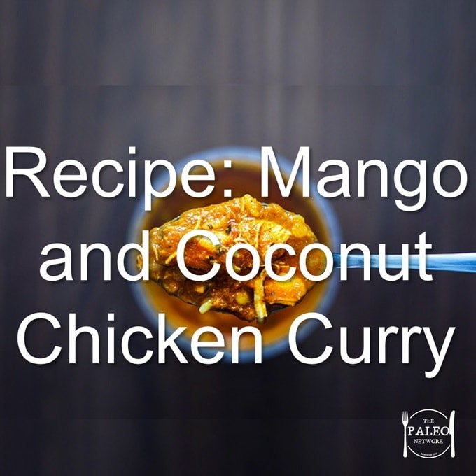 Mango and Coconut Chicken Curry paleo dinner recipe lunch-min