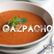 Paleo recipe Gazpacho cold tomato soup-min