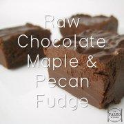 Raw Chocolate Maple and Pecan Fudge recipe paleo primal sugar free sweet streats dessert-min