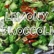 Recipe Lemony Broccoli paleo network-min