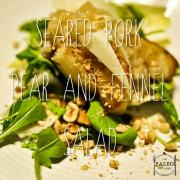 Seared Pork, Pear and Fennel Salad paleo lunch recipe-min