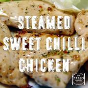 Steamed Sweet Chilli Chicken with Carrot, Squash and Coconut Mash paleo recipe dinner-min