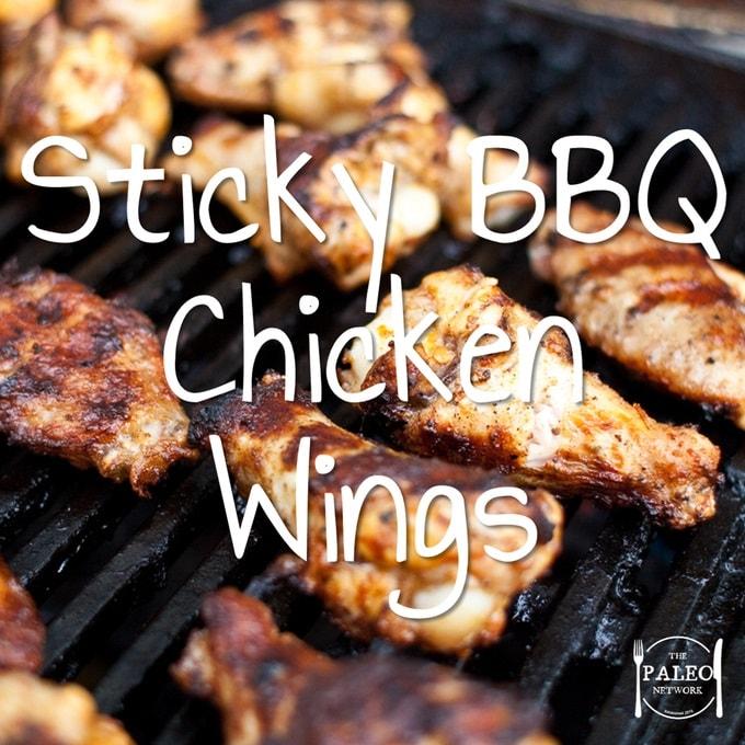 Sticky BBQ Chicken Wings paleo diet primal recipe barbecue-min