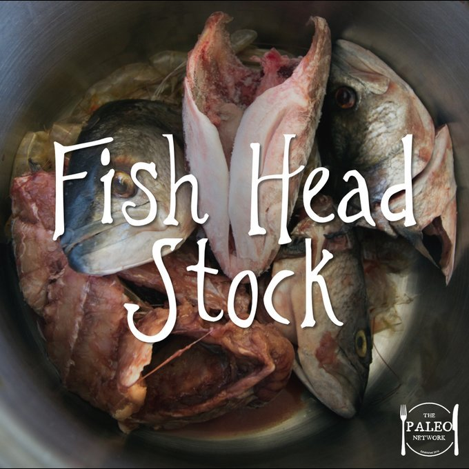 Fish head stock chowder broth paleo diet recipe