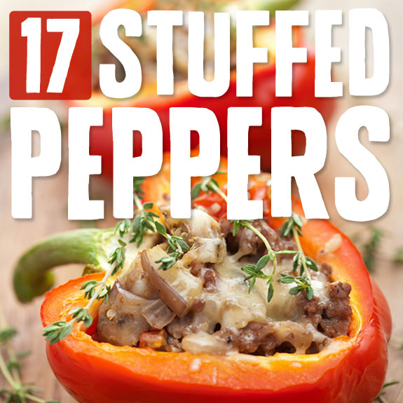 Paleo Chicken Wild Rice Stuffed Red Peppers