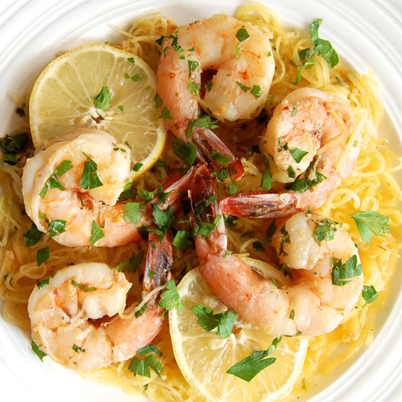 Paleo Chicken and Shrimp Linguine