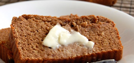 Paleo Banana Date Flaxseed Bread