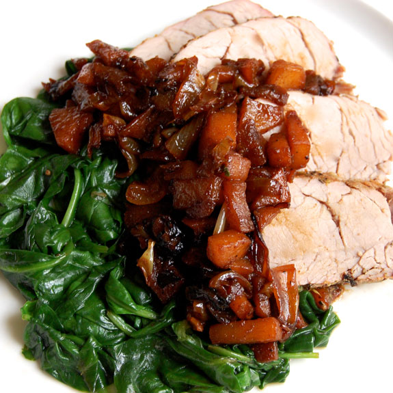 Paleo Pork Tenderloin with Apples