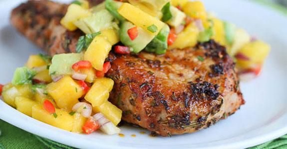 Pan-Grilled-Pork-Loin-With-Mango-Salsa