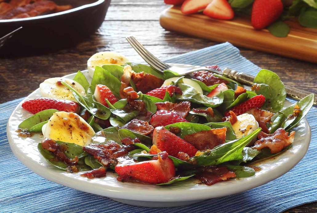 Spinach Salad With Warm Bacon Dressing Recipe — Dishmaps