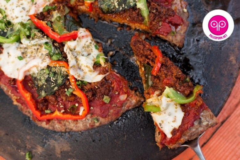 Paleo Red, White, and Green Pizza