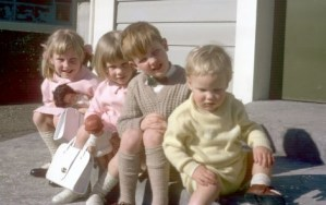 Here we all are - in the 1960's, my little brother to the right, I'm the oldest on the left.