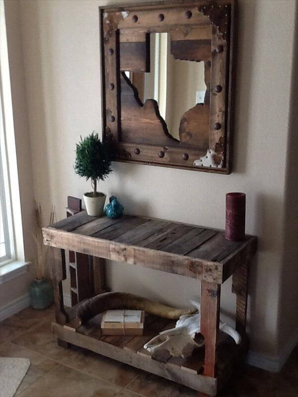 pallet entry table
