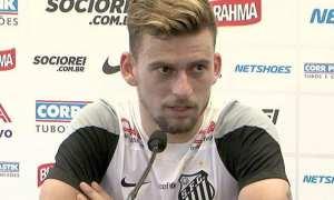 """Lucas Lima no Palmeiras? """"Pergunta difícil"""", responde meia do Santos"""