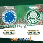 Vitória do Palmeiras Contra o Cruzeiro Pode Render Mais de 100% de Lucro no Betmotion