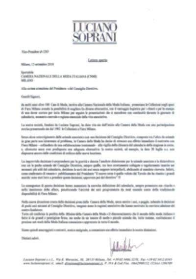Image {focus_keyword} Luciano Soprani si separa dalla Camera della Moda e cancella la sfilata 39456 2010916124750