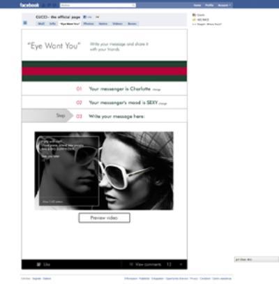 Image {focus_keyword} Gucci, 2 milioni di fan e nuova applicazione su Facebook 39842 2010111610813