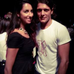 Pamela Quinzi with Aldo Montano Italian fencer and a four-time Olympic medalis