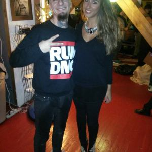 Pamela Quinzi with Italian rapper J-AX