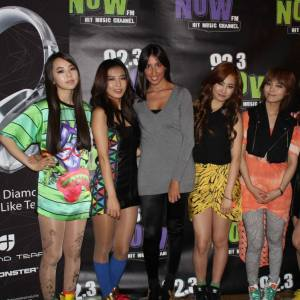 Pamela Quinzi with The Wonder Girls