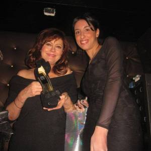 Pamela Quinzi and Kilame shoes with Actress Susan Sarandon Academy Award for Best Actress for her performance in the 1995 film Dead Man Walking