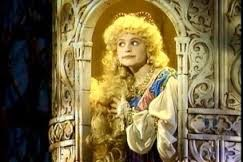 Pamela Winslow Kashani as Rapunzel in her tower in the original Into the Woods cast