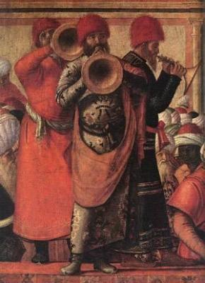 Carpaccio, The Baptism of the Selenites (detail)
