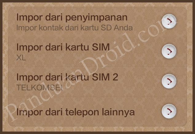 Cara Import Kontak Telepon Ke Daftar Kontak Telepon Xiaomi Redmi 1S