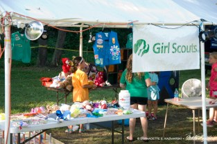 Girl Scouts booth.