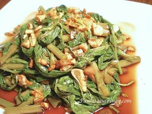 how to cook adobong kangkong with oyster sauce