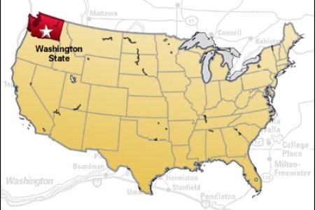 Map Of Usa Washington - Washington on the us map