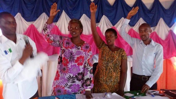 Abinjjwe muri Komite Nyobozi ya PSD mu karere ka Gatsibo bahise barahirira imbere y'ababatoye