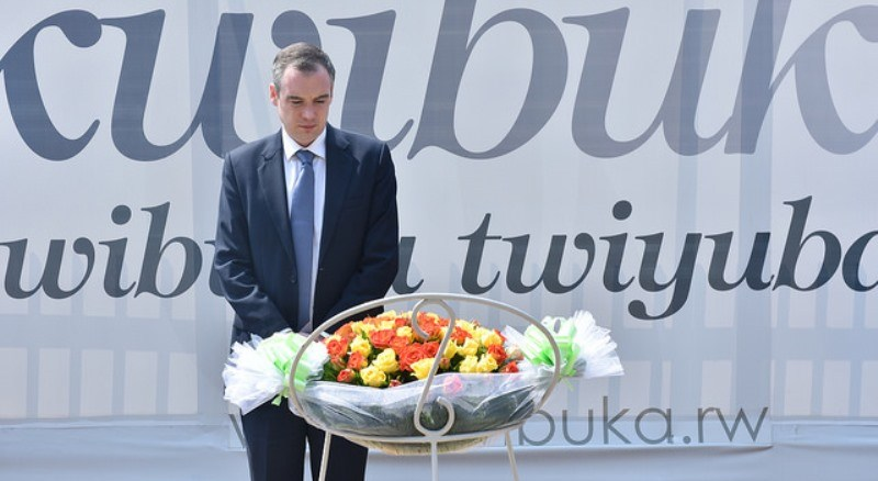 James Wharton paid respect to the victims of the Genocide against the Tutsi. (Photo/Courtesy)