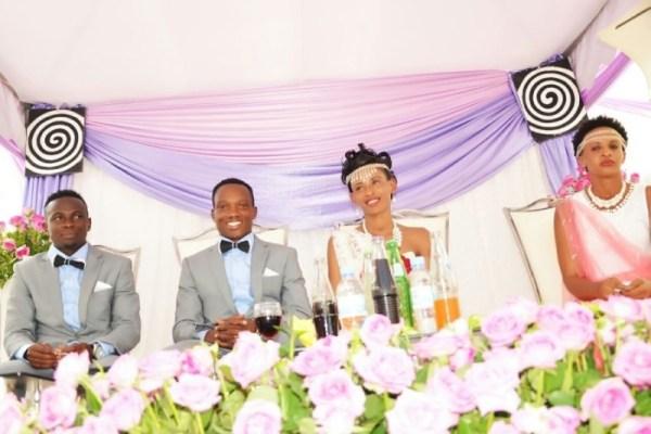 Ndayishimiye Celestin na Uwera Monique umunezero wari wose.