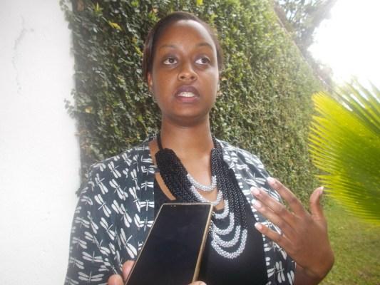 Diana Kareba Rutagemwa, Gestionnaire de portefeuilles et d'investissement dans le Fonds de Développement des Entreprises (BDF: Business Development Fund) (Photo/Elias H.)